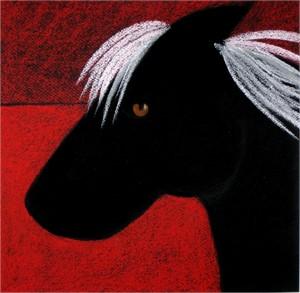 SOLD 'Black Horse at Dusk'