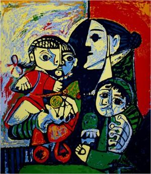 Francoise, Claude & Paloma, c. 1953