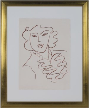 Woman w/Ruffled Blouse & Open Collar (from Florilege des Amours de Ronsard Portfolio, 2007