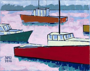 Green Harbor lobster boats- Marshfield, Ma