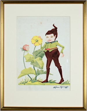 Billy Brownie With Flowers #407, c.1940's