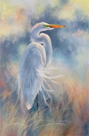 Great Egret in Breeze, 2018