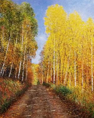 An Aspen Trail by James Scoppettone