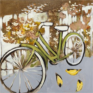Bicycle and Finches
