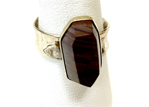 Ring - Jasper set in Sterling Silver & 18k Gold - Adjustable, 2019