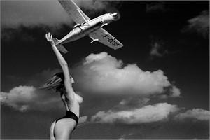 Ashley with plane St Barth  (1/25), 1984