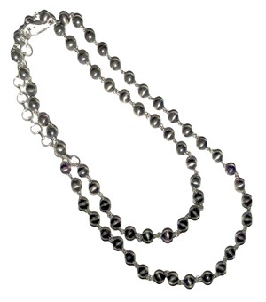 "Necklace - 24"" Sterling Silver Ball & Chain"