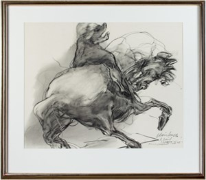 Horseman, signed, dated and inscribed to David Barnett, 1978