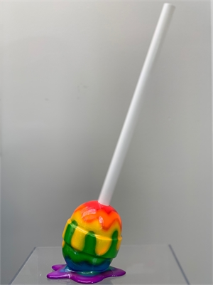 """The Sweet Life Small Rainbow Lollipop, 2019"