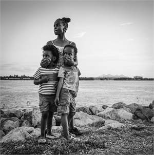 Siblings Along the Mississippi by Kevin Greenblat