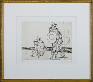 Don Quichotte De La Manche-Don Quichotte & Sancho Panza Standing w/Hats Off (68/200), 1980