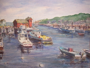 Motif # 1, Rockport, MA by Shirley Akers