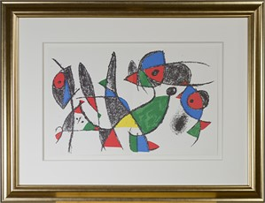 "Original Lithograph IX from ""Miro Lithographs II, Maeght Publisher"", 1975"