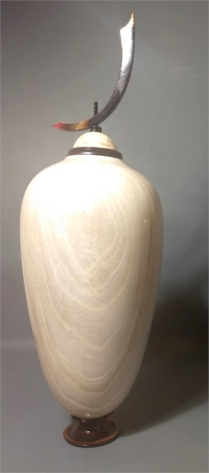Bleached Chinaberry Vessel II, 2019