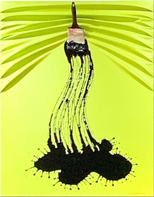 """""""Lets Paint"""" Black On Electric Lime Green"""