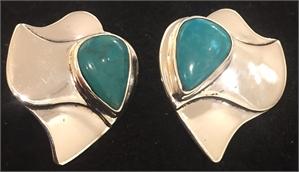 Sterling Tibetan Turquoise Post Earring 271