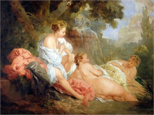 Follower of Francois Boucher - Three Bathers