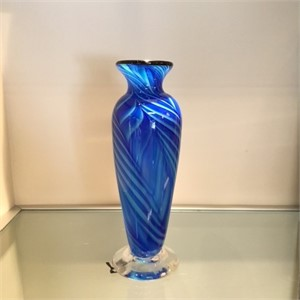 Blue Feathered Amphora