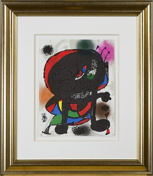 "Original Lithograph III from ""Miro Lithographs III, Maeght Publisher"", 1977"