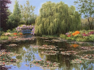COLORS OF MONET'S GARDEN