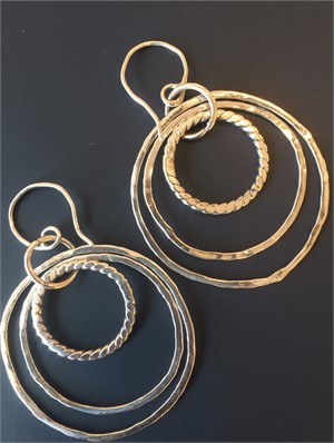 Sterling Circle Wire Earring