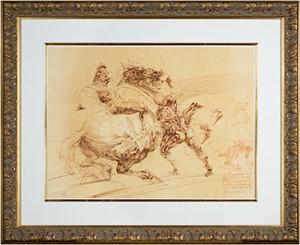 Homage a Leonardo d'Vinci (Foot Soldier Attacking Horse & Rider from De La Bataille Vol. I), 1978