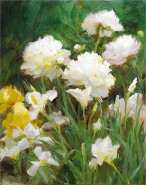 "KATHY ANDERSON, OPAM, ""Peonies and Iris"""
