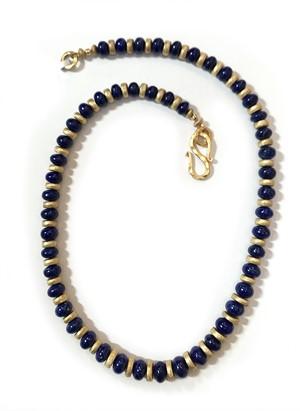 Necklace - Lapis, Lazuli & Gold Vermeil  #7764, 2019