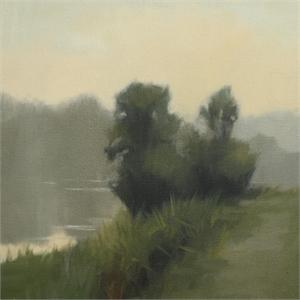 Morning Riverbank Study by Megan Lightell