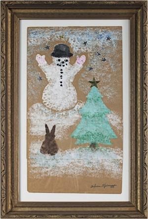Winter Wonderland (Snowman, Pine Tree, Rabbit), c.1950