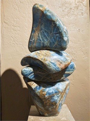 Stacked Blue Figure II, 2018