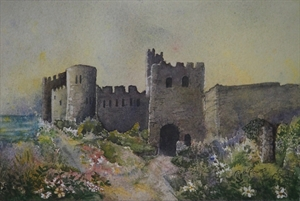 Castle in Wales by Ruth Powers