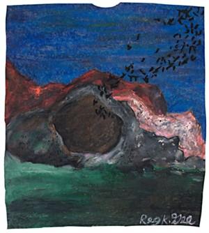 Bats Exiting Cave, 1999