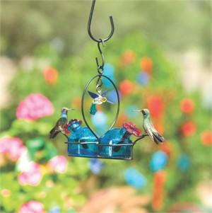 Hummingbird Feeder - 6oz Bouquet 2 Deluxe in Aqua