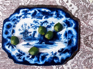 Blue Platter and Limes, 2018