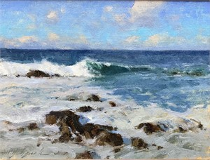Afternoon Surf at Asilomar by Michael J Lynch