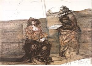 Peintre et son Modele (EA 11/30), 1973