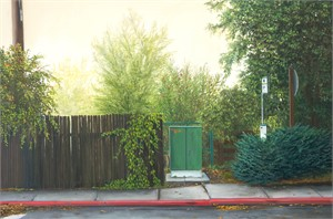 bus stop by Robert Bissell