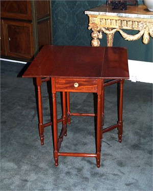 GATE LEG DIRECTOIRE TABLE, French, 19th century