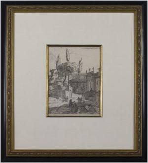 Conversation Outside Castle, 1670-1746