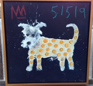 Yellow Polka Dot  Dog, 2019