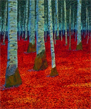 Autumn Birches IV
