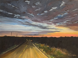 Lonesome Road at Sunset by Cathie Thompson