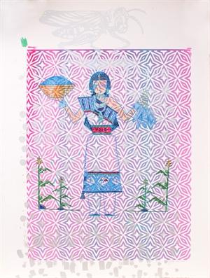 Blue Corn Maiden (Framed), 2020