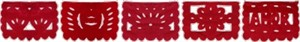 "Papel Picado Banner - 36"" Red Love Banner"