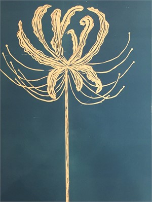 Spider Lily in Blue