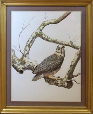 GREAT HORN OWL BY TONY HENNEBERG, 2014