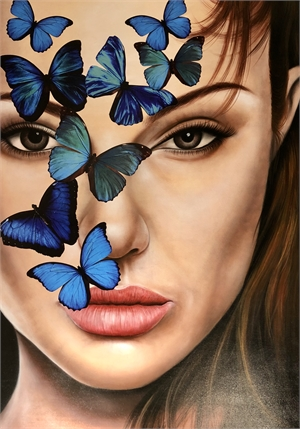 Angelina with Blue Butterflies, 2019