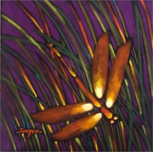 Dragonfly Purple/Amber