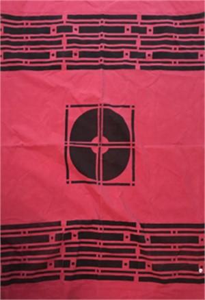 Red Geometric Corduroy
